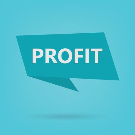 profit word on sticker- vector illustration