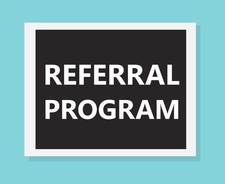 referral program concept- vector illustration