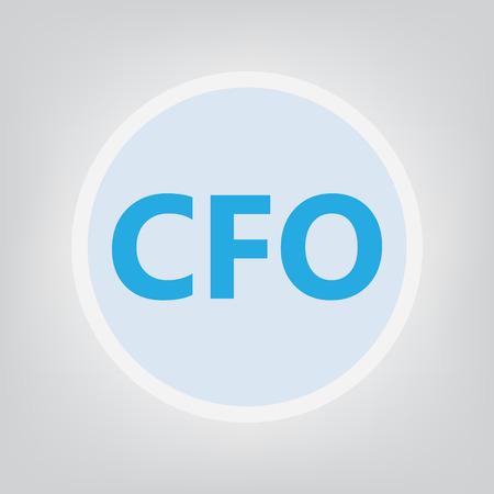 CFO (Chief Financial Officer) concept- vector illustration Illustration