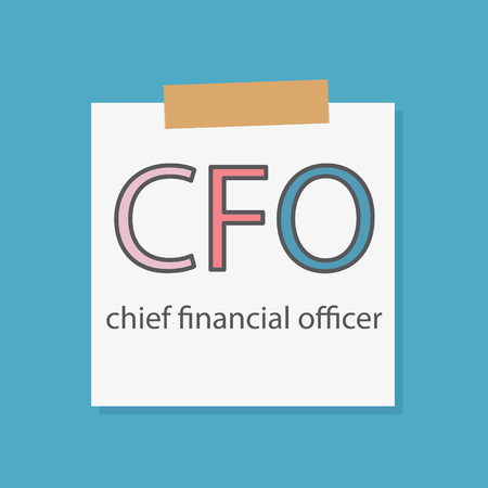 CFO Chief Financial Officer written in a notebook paper- vector illustration