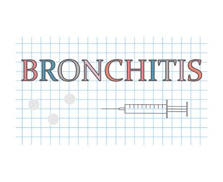 Bronchitis word on checkered paper sheet- vector illustration Stock Vector - 107515323