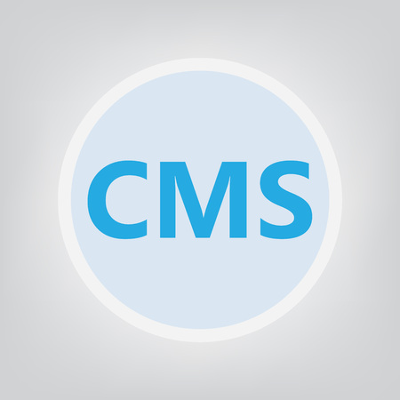 CMS (Content Management System) acronym- vector illustration