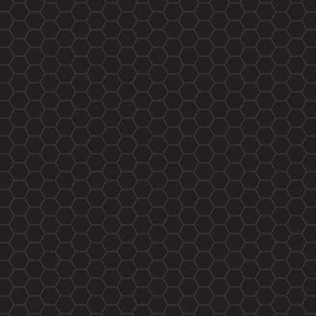 black hexagonal pattern- vector illustration Ilustração Vetorial