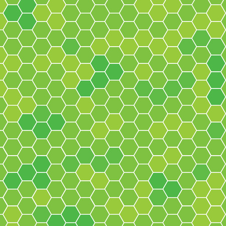 green spring hexagonal pattern- vector illustration