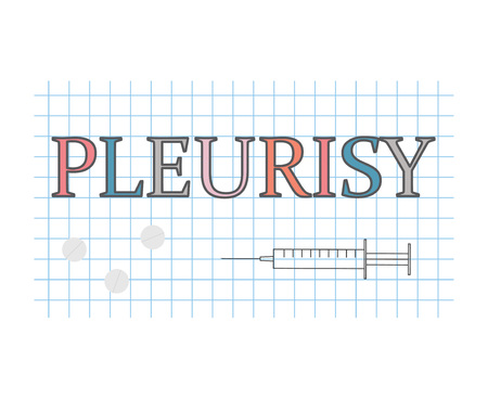 Pleurisy word on checkered paper sheet