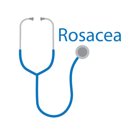 Rosacea word and stethoscope icon