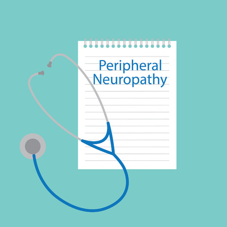 Peripheral neuropathy written in a notebook- vector illustration