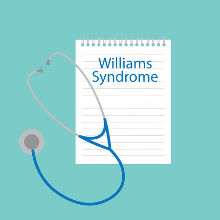 Williams Syndrome written in a notebook- vector illustration