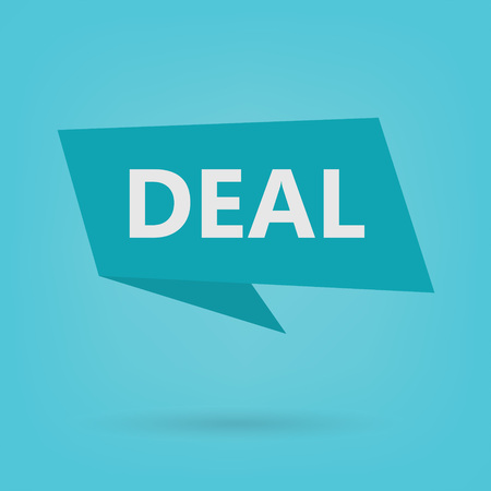 deal word on a sticker- vector illustration