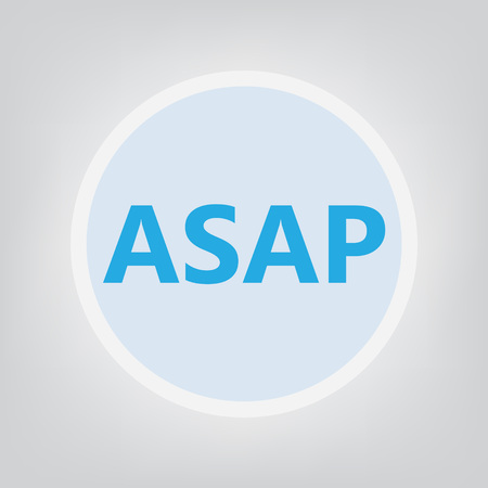 ASAP (As Soon As Possible) acronym - vector illustration