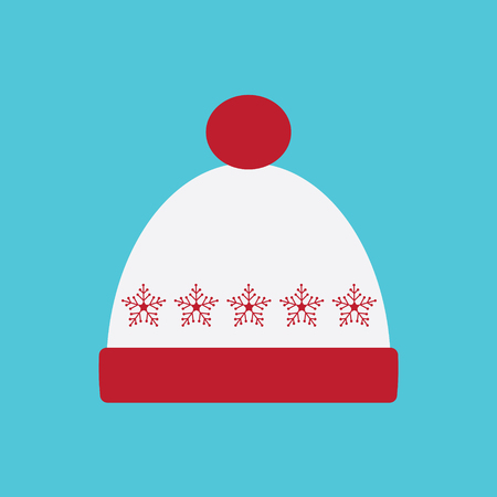 winter cap icon- vector illustration