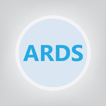 ARDS (Acute Respiratory Distress Syndrome) acronym- vector illustration Illustration