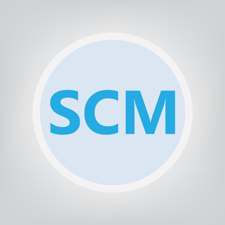 SCM (Supply chain management) acronym- vector illustration Illustration
