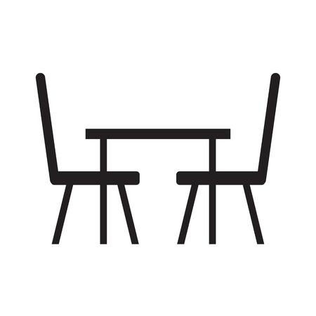 table et chaises icône-illustration vectorielle