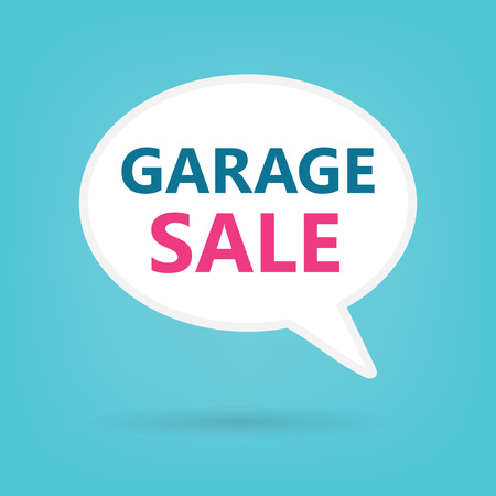 garage sale on a speech bubble- vector illustration