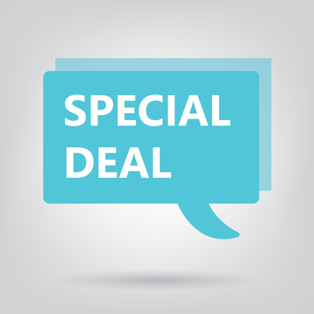 special deal written on speech bubble- vector illustration