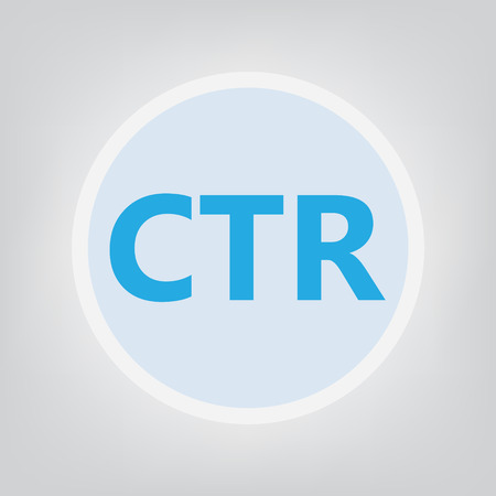 CTR (Click-through rate) acronym- vector illustration  イラスト・ベクター素材