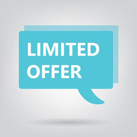 limited offer written on a speech bubble- vector illustration 일러스트