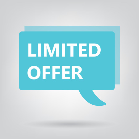 limited offer written on a speech bubble- vector illustration Illustration