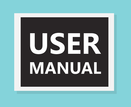 user manual concept- vector illustration