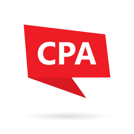 CPA (Certified Public Accountant) acronym on a speach bubble- vector illustration
