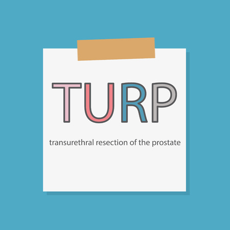 TURP Transurethral resection of the notebook in a notebook paper- vector illustration