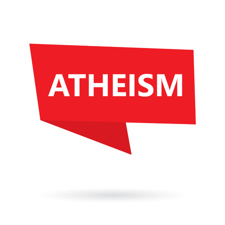 atheism word on a speach bubble- vector illustration