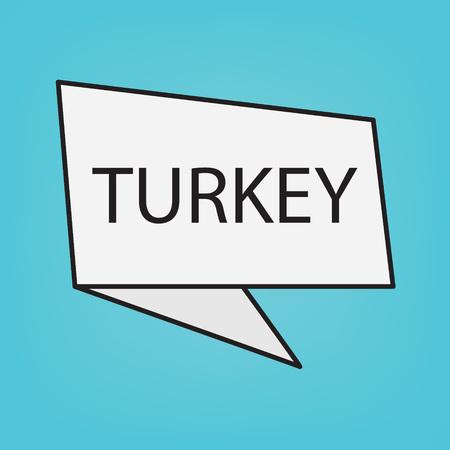 Turkey word on a sticker- vector illustration Illustration