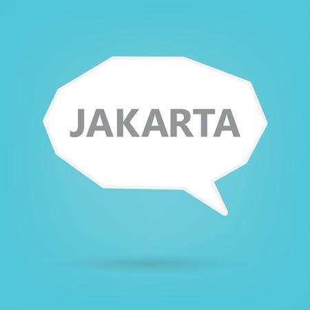 Jakarta word on a speech bubble- vector illustration