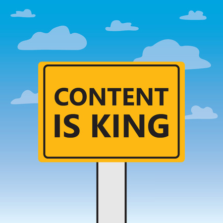 content is king written on a billboard- vector illustration Illustration