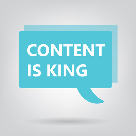 content is king written on a speech bubble- vector illustration