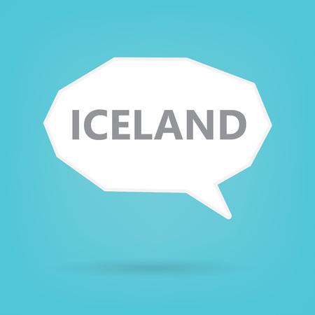 Iceland word on a speech bubble- vector illustration Çizim