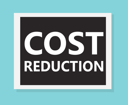 cost reduction concept- vector illustration