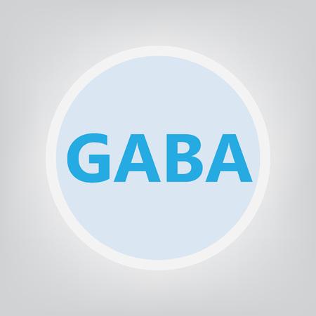 GABA (gamma-Aminobutyric acid) acronym- vector illustration