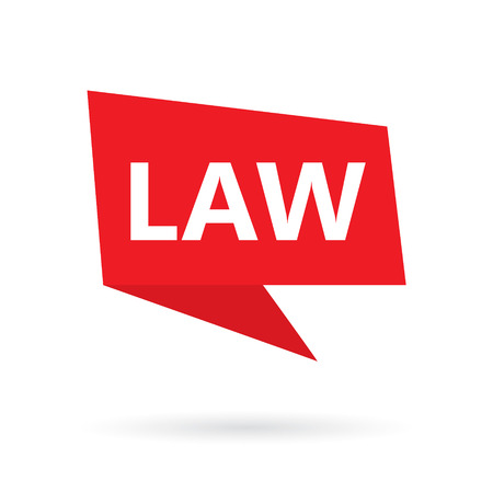 law word on a speach bubble- vector illustration