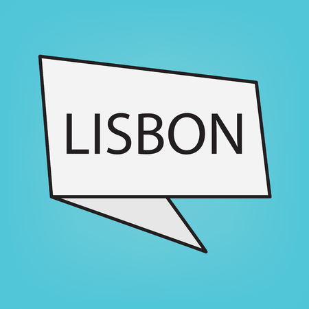 Lisbon word on a sticker- vector illustration
