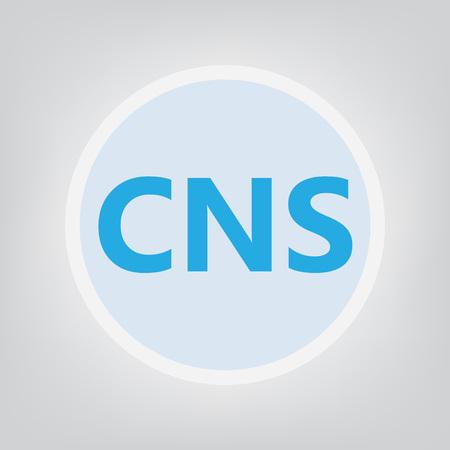 CNS (central nervous system) acronym- vector illustration Stock Vector - 115226784
