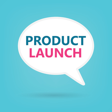 product launch on a speech bubble- vector illustration 向量圖像