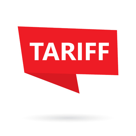 tariff word on a speach bubble- vector illustration Ilustrace