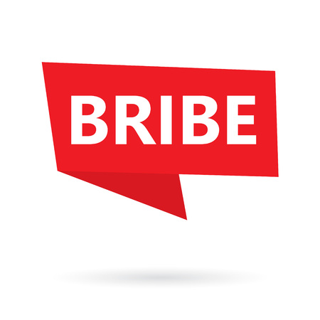 bribe word on a speach bubble- vector illustration