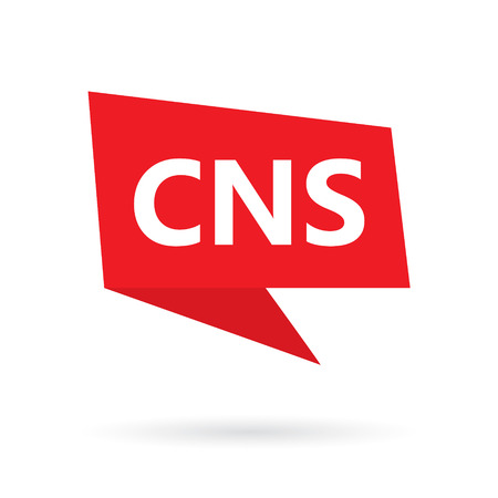 CNS (central nervous system) acronym on a speach bubble- vector illustration