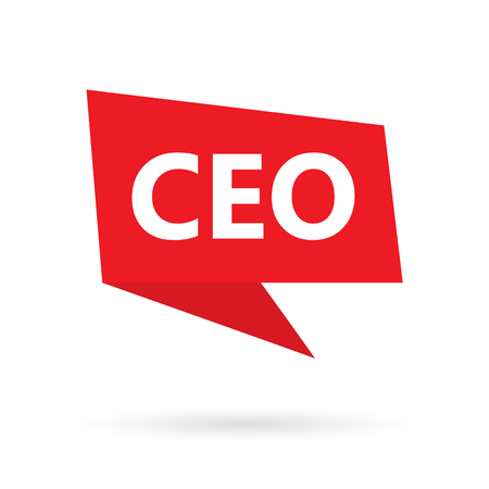 CEO (Chief Executive Officer) acronym on a speach bubble- vector illustration