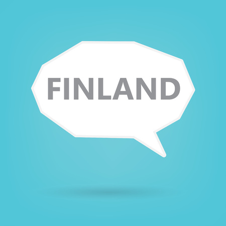 Finland word on a speech bubble- vector illustration