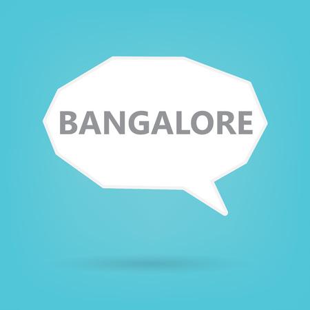 Bangalore word on a speech bubble- vector illustration Illustration