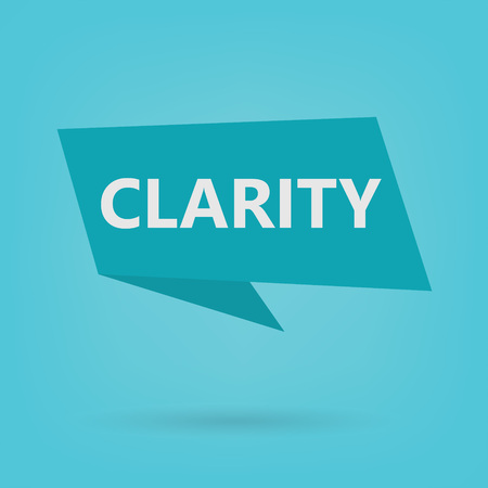 clarity word on a sticker- vector illustration Stock Illustratie