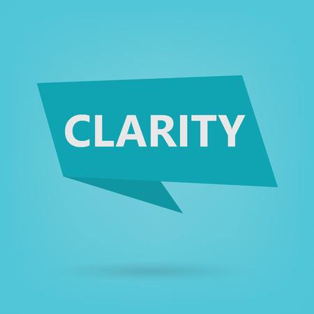 clarity word on a sticker- vector illustration Illustration