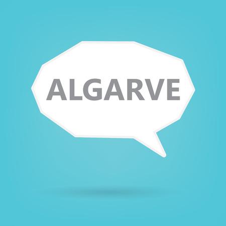 Algarve word on a speech bubble- vector illustration