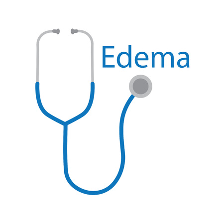 edema word and stethoscope icon- vector illustration  イラスト・ベクター素材