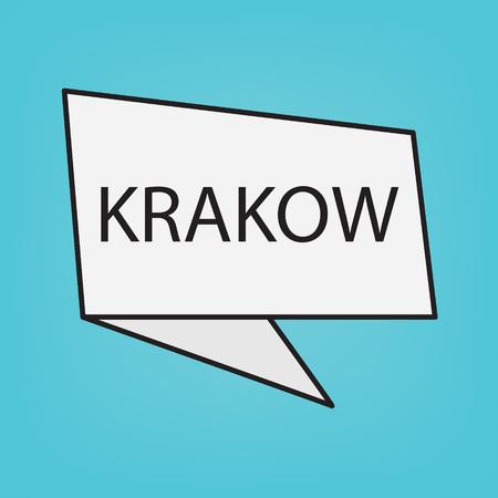 Krakow word on a sticker- vector illustration