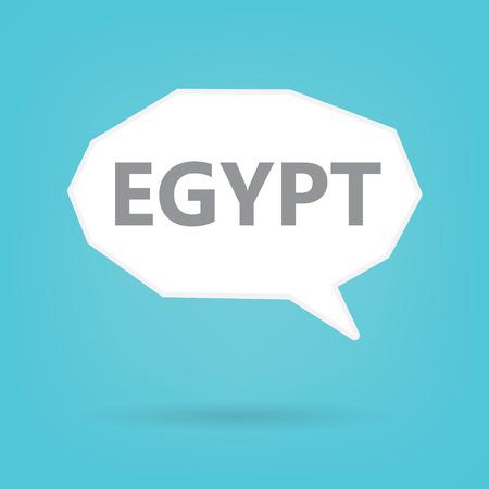 Egypt word on a speech bubble- vector illustration Illustration